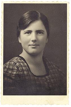 Ein Portrait-Foto von Katharina Lampert. Sie wurde im Februar 1941 in Hartheim ermordet.