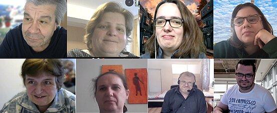 Die Textprüferinnen und Textprüfer von Proqualis bei einer Online-Textprüfung